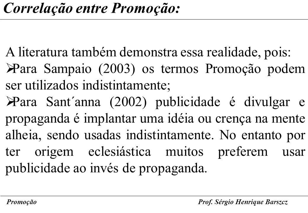 Correlação entre Promoção: