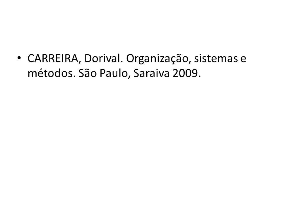 CARREIRA, Dorival. Organização, sistemas e métodos