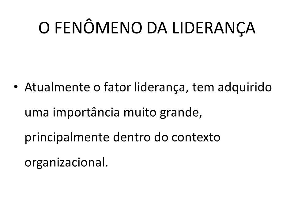 O FENÔMENO DA LIDERANÇA