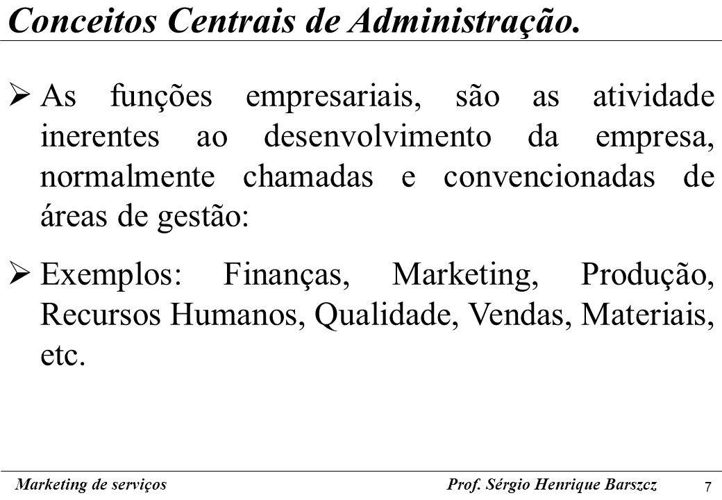 Conceitos Centrais de Administração.