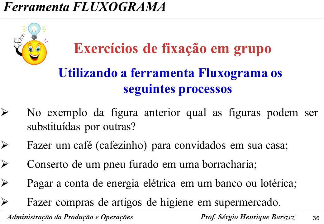Exercícios de fixação em grupo