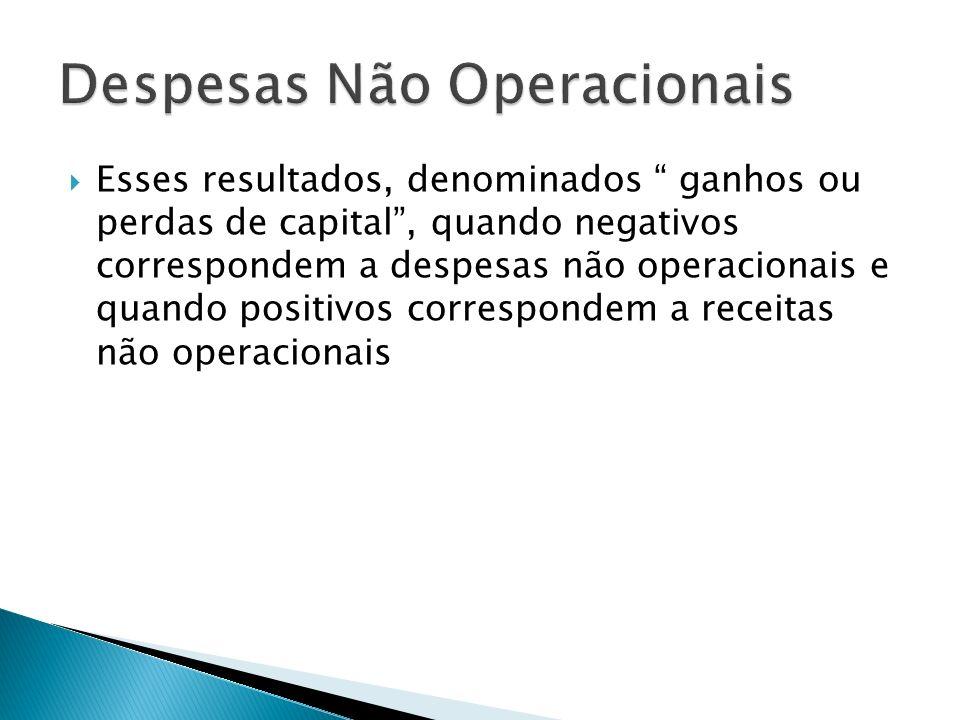 Despesas Não Operacionais
