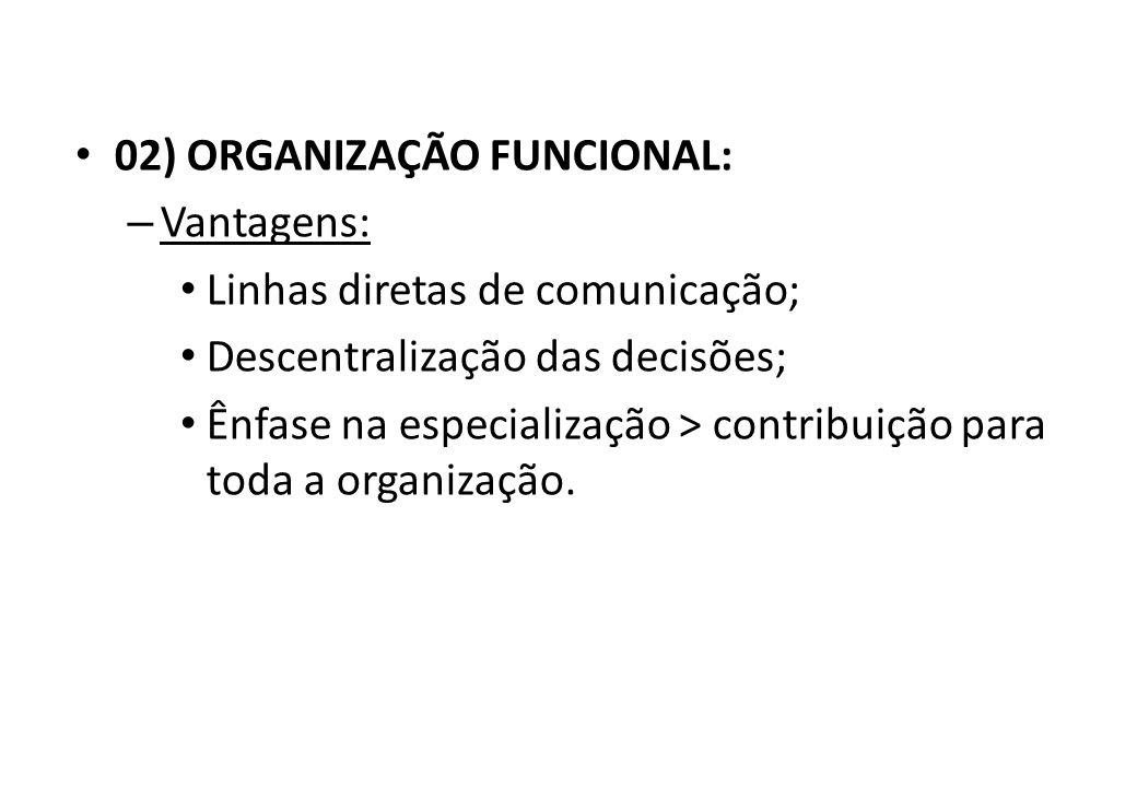 02) ORGANIZAÇÃO FUNCIONAL: