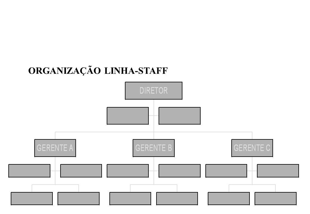 ORGANIZAÇÃO LINHA-STAFF