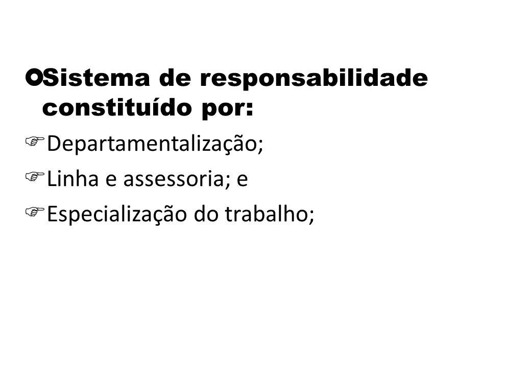 Sistema de responsabilidade constituído por:
