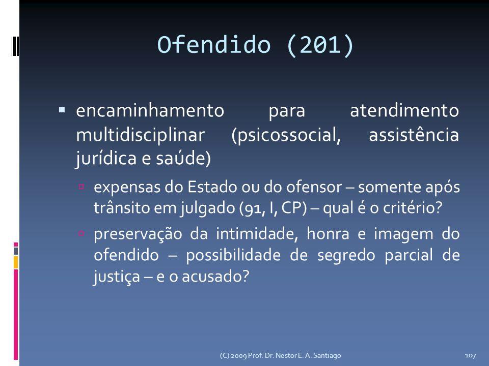Ofendido (201) encaminhamento para atendimento multidisciplinar (psicossocial, assistência jurídica e saúde)