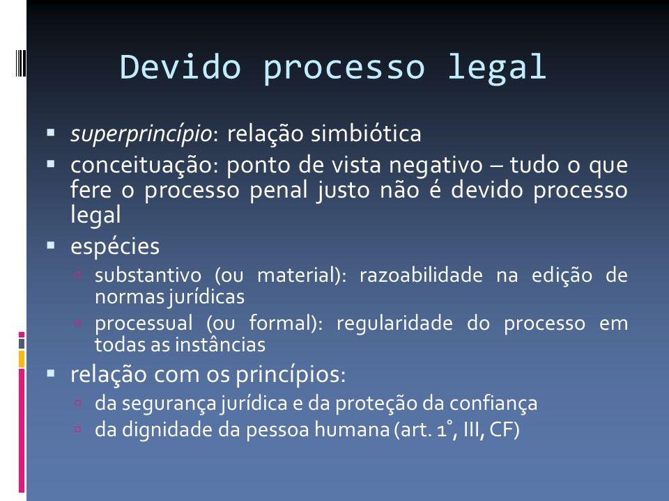 Devido processo legal superprincípio: relação simbiótica