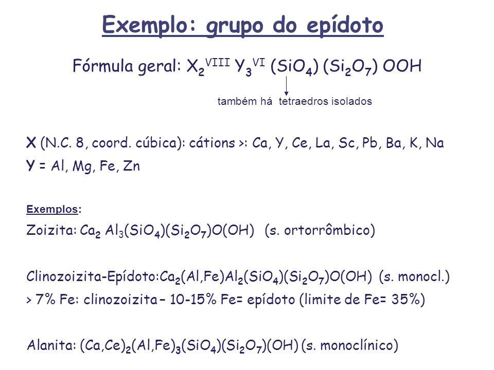 Exemplo: grupo do epídoto