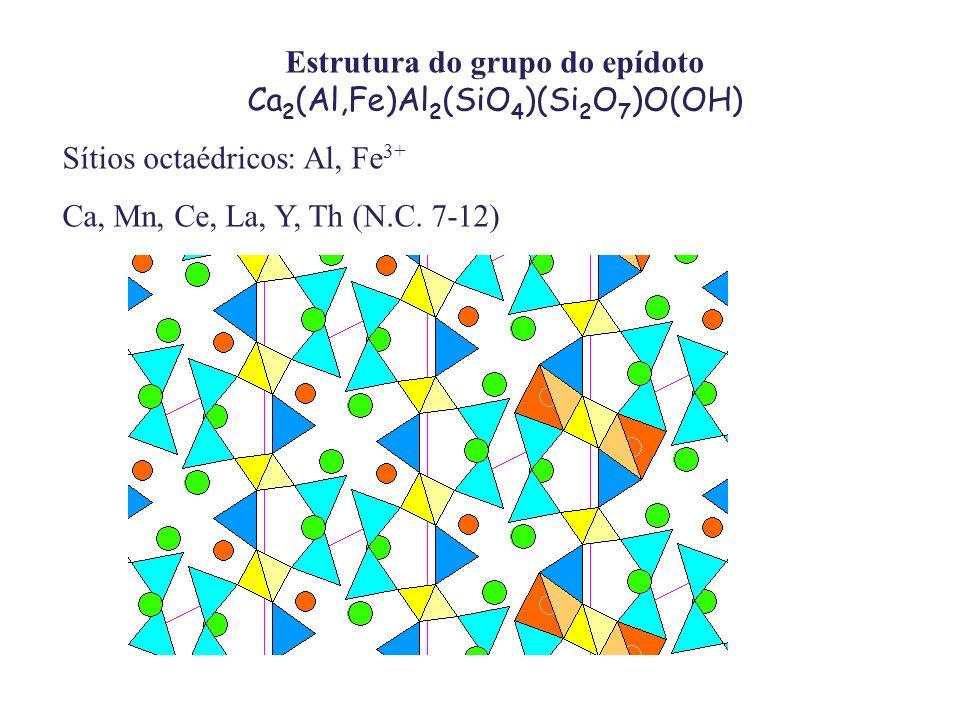 Estrutura do grupo do epídoto Ca2(Al,Fe)Al2(SiO4)(Si2O7)O(OH)