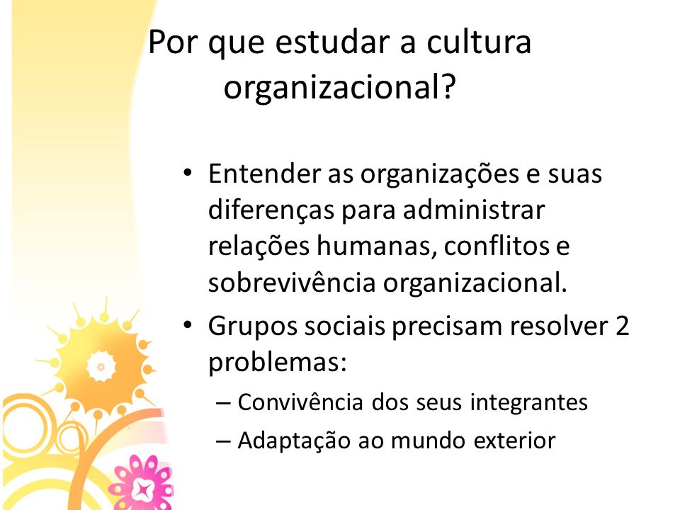 Por que estudar a cultura organizacional