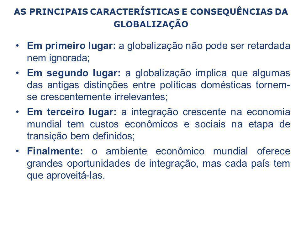 AS PRINCIPAIS CARACTERÍSTICAS E CONSEQUÊNCIAS DA