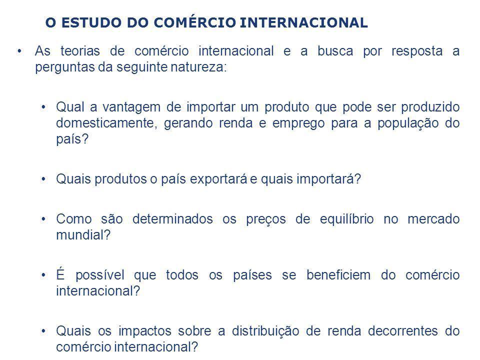 O ESTUDO DO COMÉRCIO INTERNACIONAL