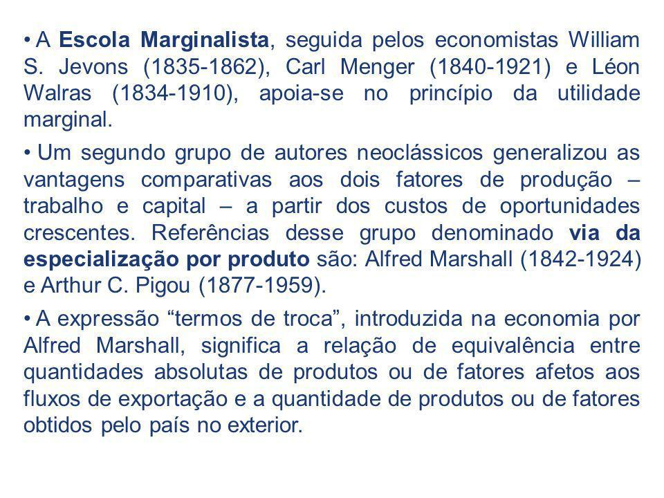 A Escola Marginalista, seguida pelos economistas William S