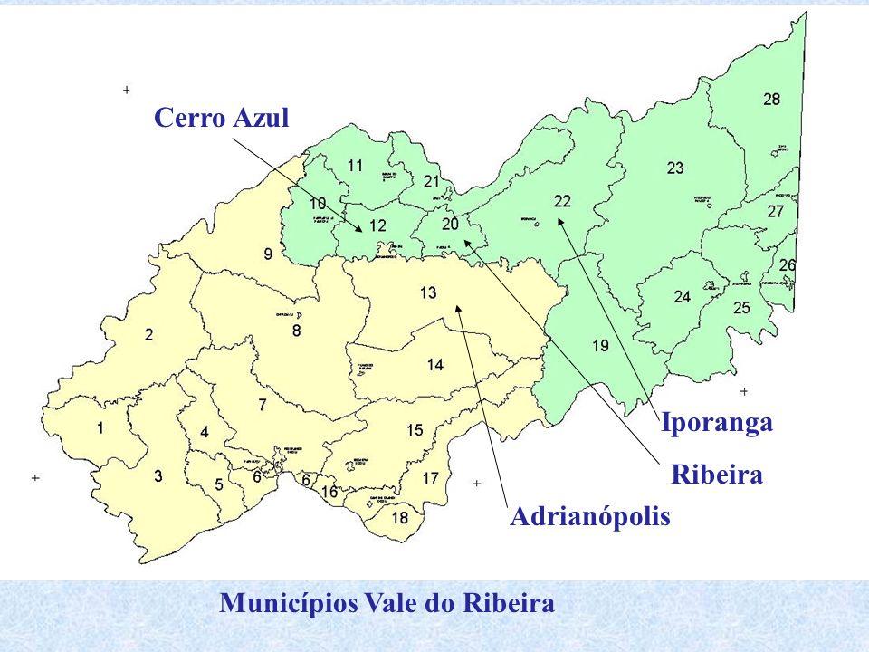 Cerro Azul Iporanga Ribeira Adrianópolis Municípios Vale do Ribeira