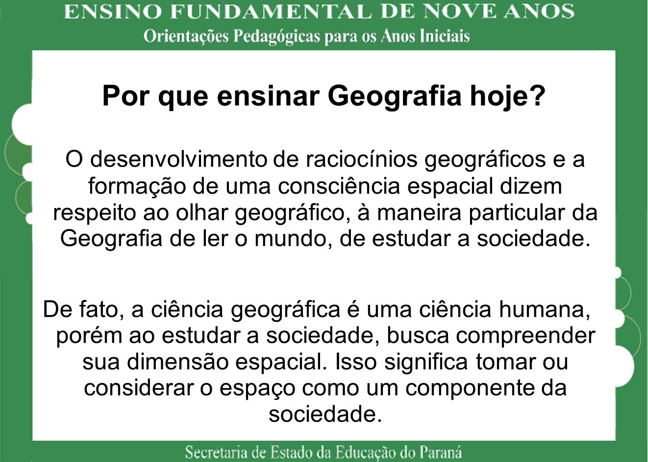 Por que ensinar Geografia hoje