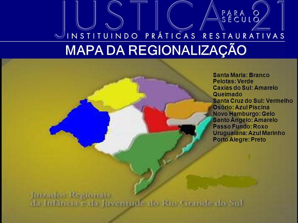 MAPA DA REGIONALIZAÇÃO