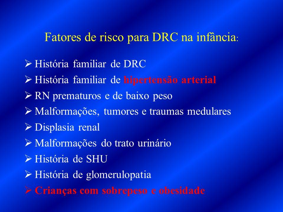 Fatores de risco para DRC na infância: