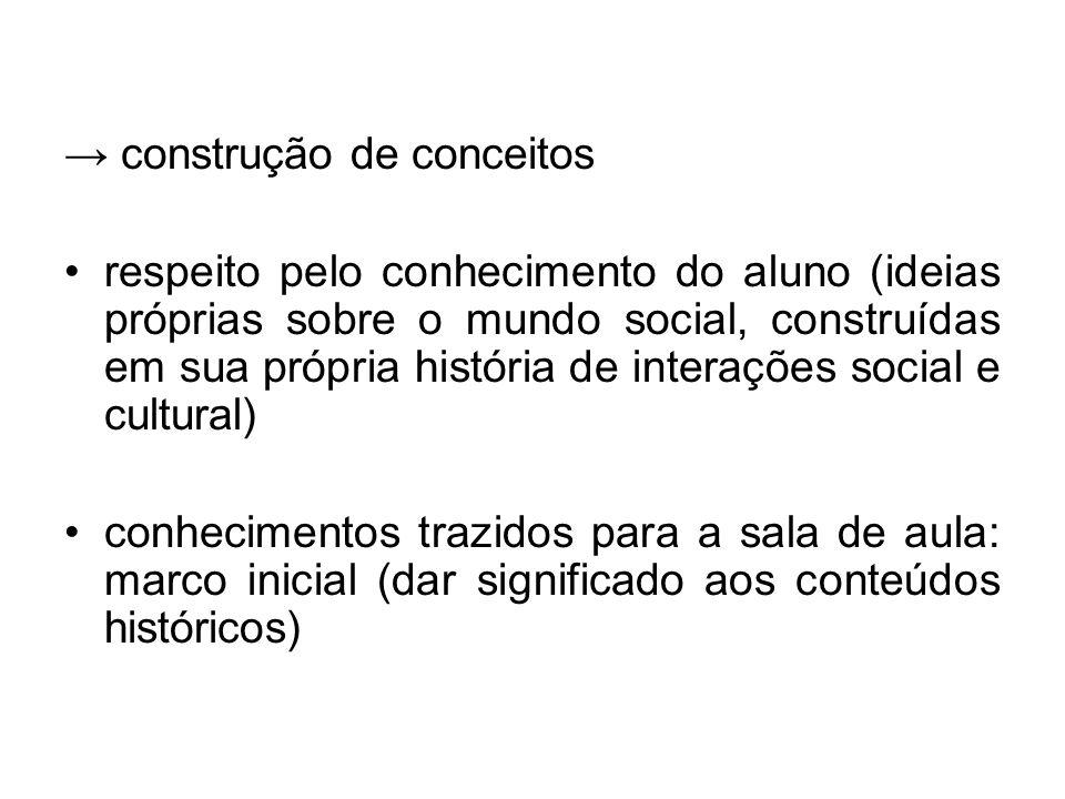 → construção de conceitos