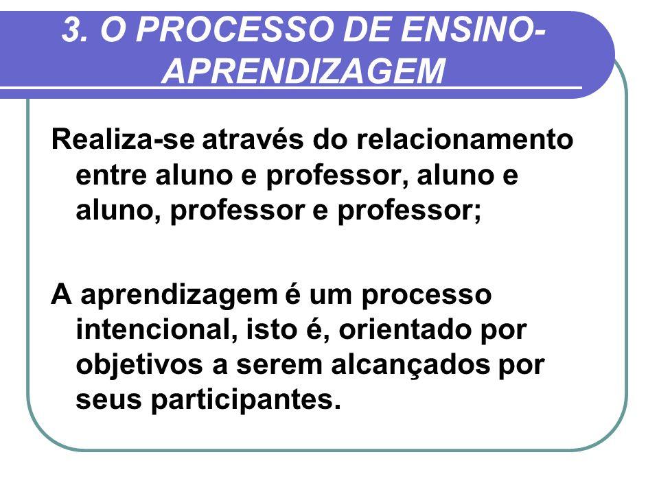 3. O PROCESSO DE ENSINO-APRENDIZAGEM