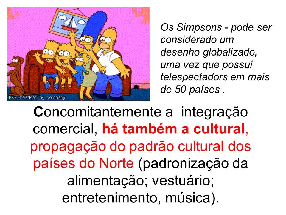 Os Simpsons - pode ser considerado um desenho globalizado, uma vez que possui telespectadors em mais de 50 países .