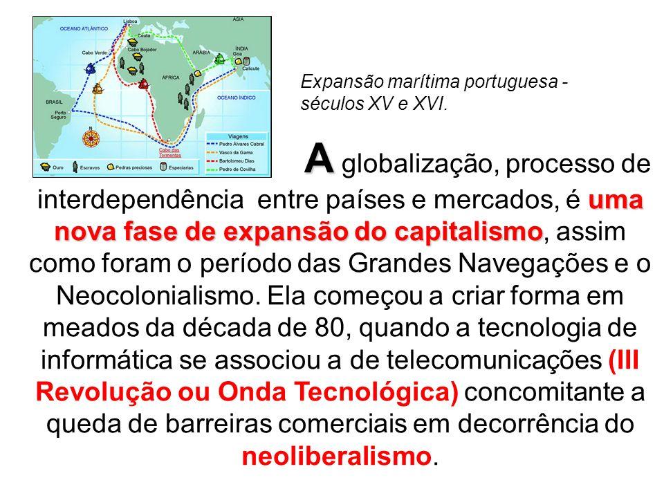 Expansão marítima portuguesa - séculos XV e XVI.