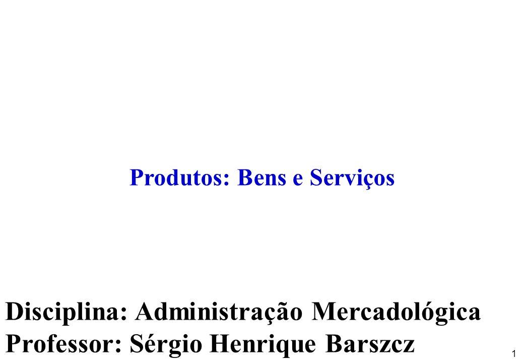 Produtos: Bens e Serviços