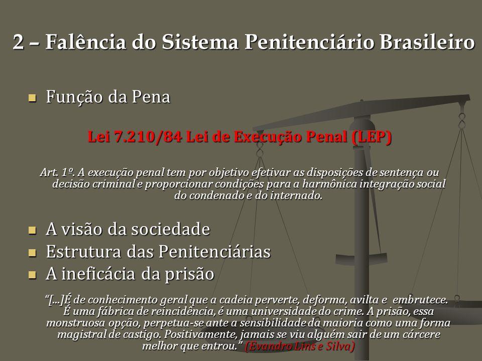 2 – Falência do Sistema Penitenciário Brasileiro