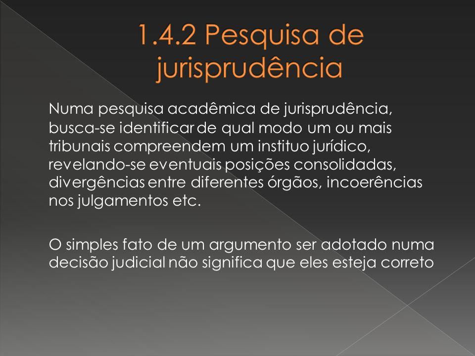 1.4.2 Pesquisa de jurisprudência
