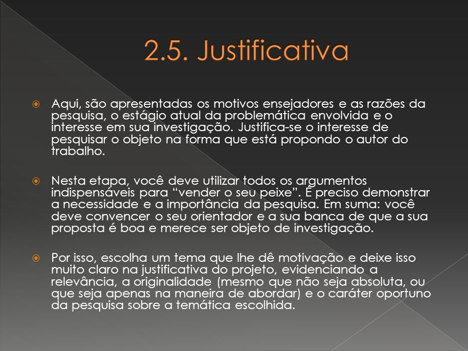 2.5. Justificativa