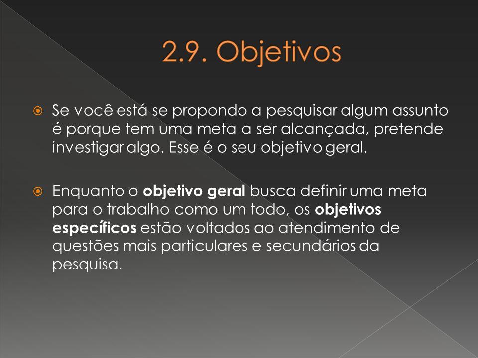 2.9. Objetivos