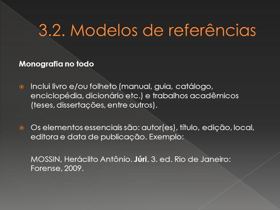 3.2. Modelos de referências