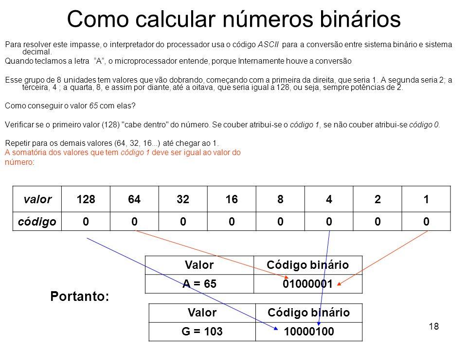 Como calcular números binários