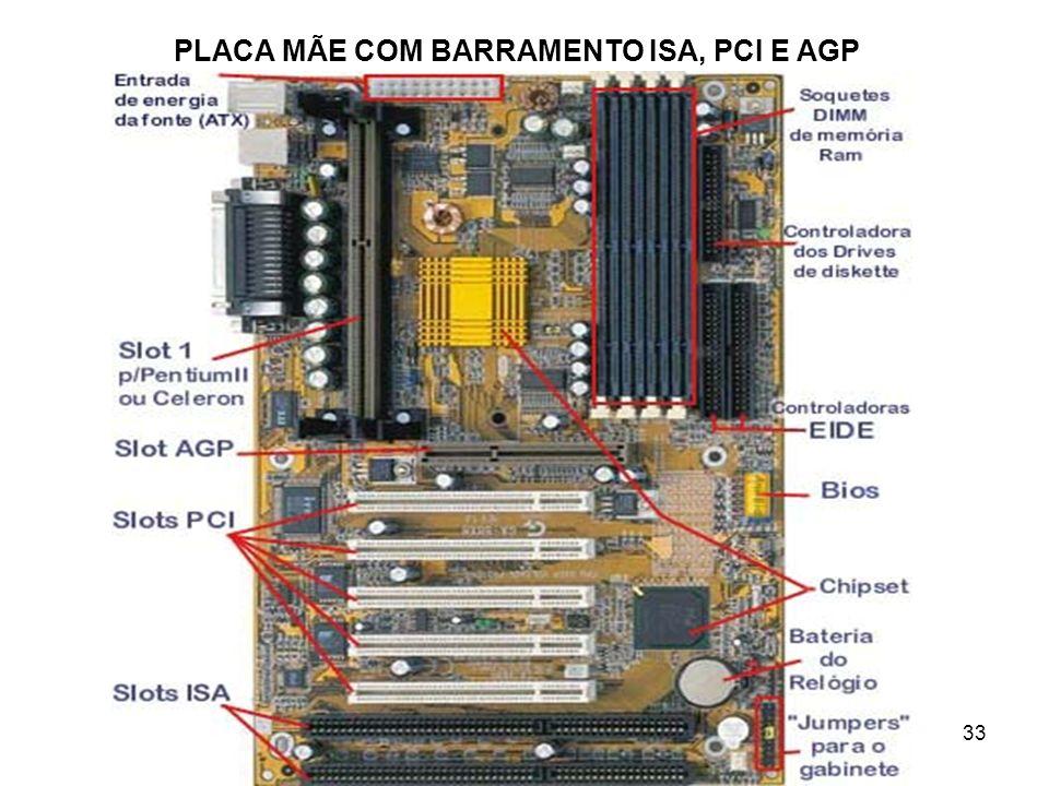 PLACA MÃE COM BARRAMENTO ISA, PCI E AGP