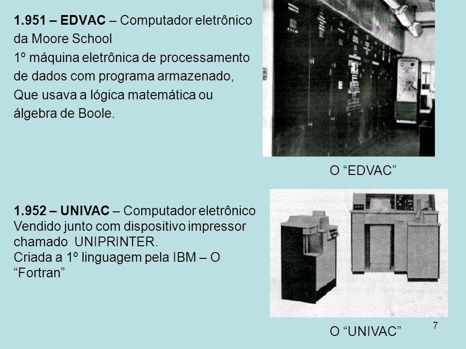 1.951 – EDVAC – Computador eletrônico