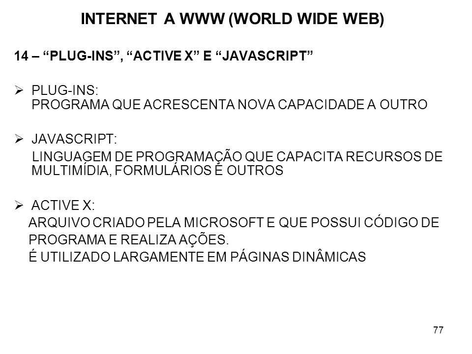 INTERNET A WWW (WORLD WIDE WEB)