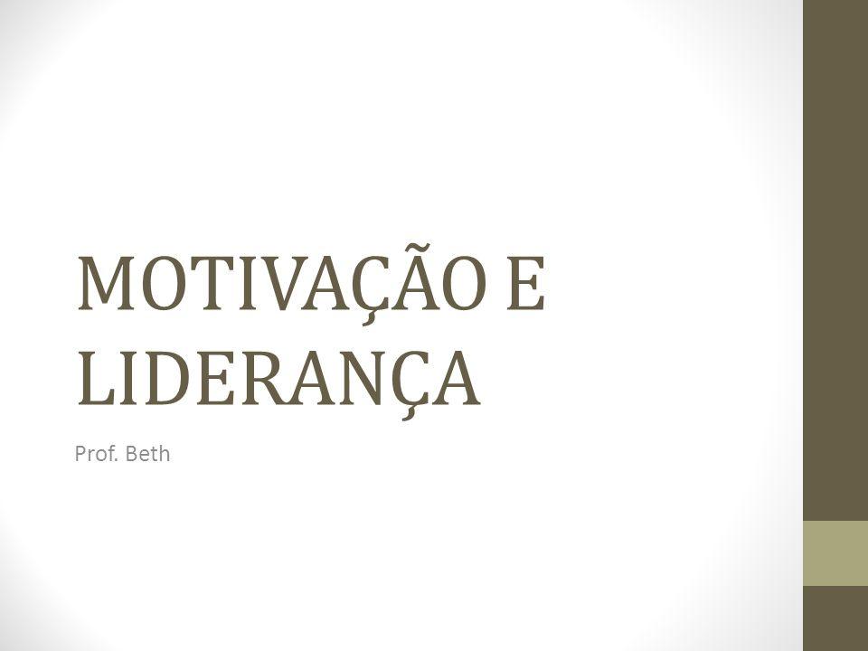 MOTIVAÇÃO E LIDERANÇA Prof. Beth