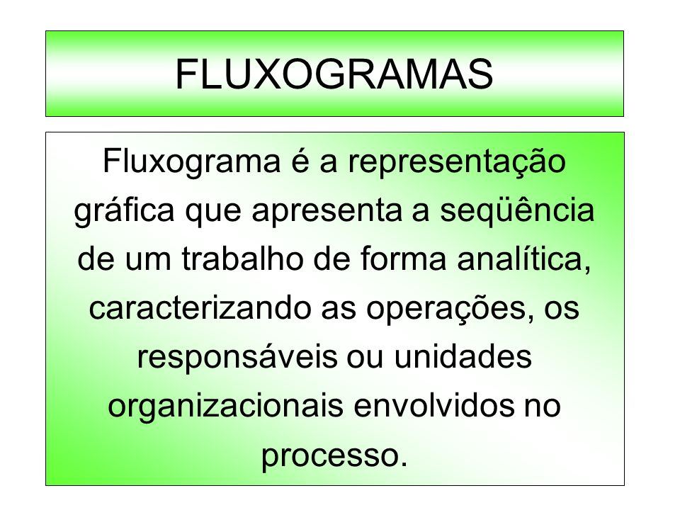 FLUXOGRAMAS