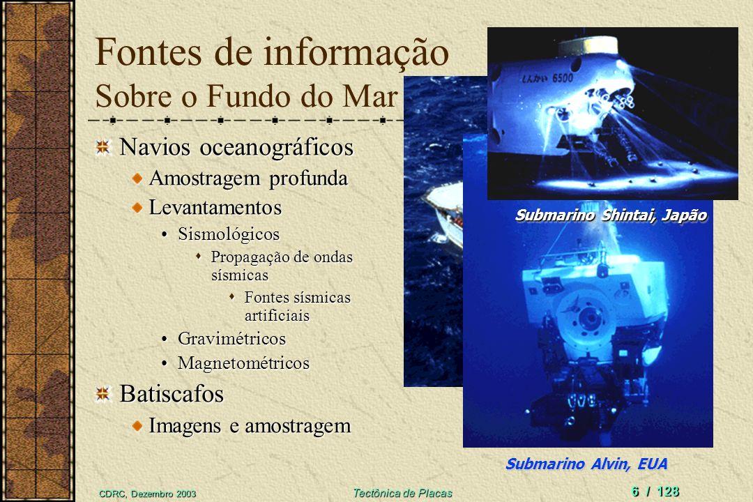 Fontes de informação Sobre o Fundo do Mar