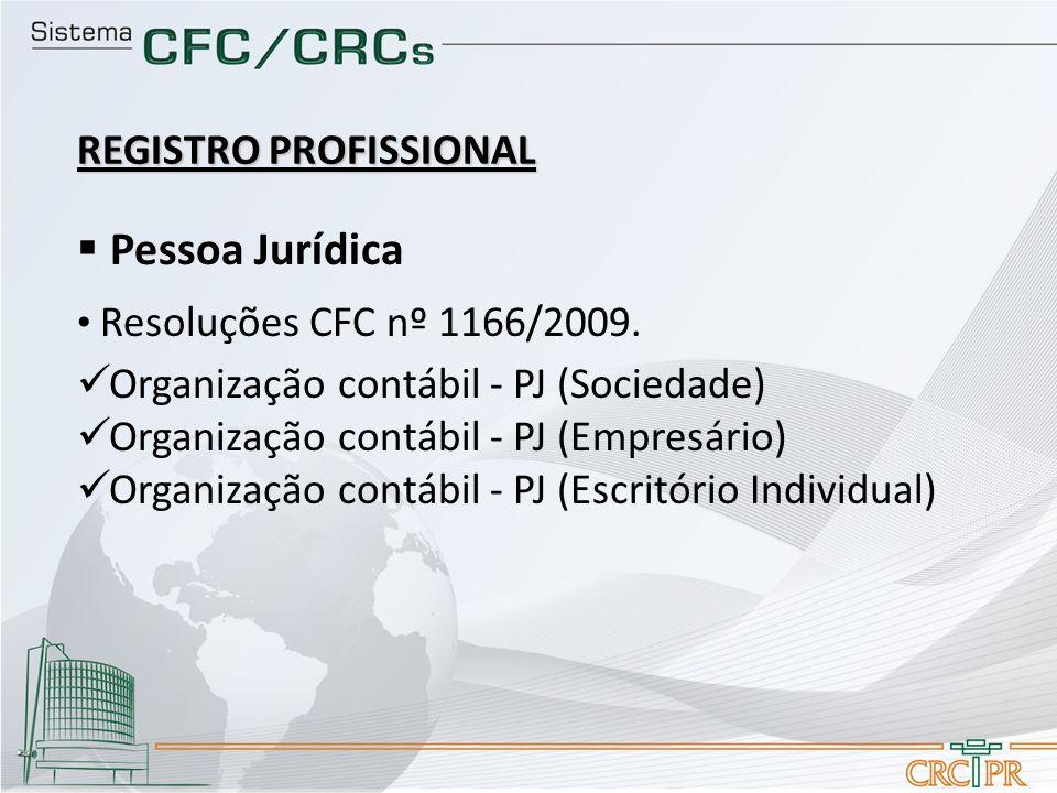 Pessoa Jurídica REGISTRO PROFISSIONAL