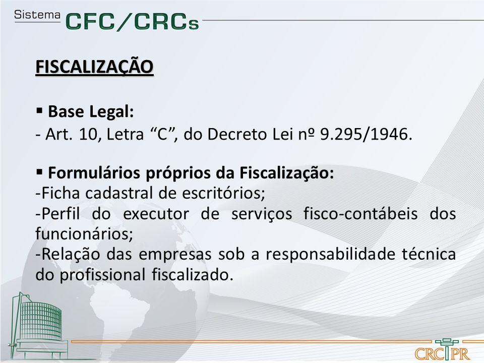 FISCALIZAÇÃO Base Legal: