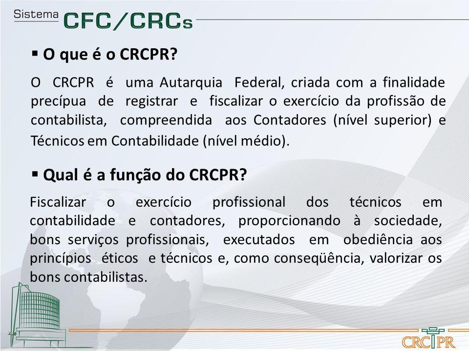 O que é o CRCPR Qual é a função do CRCPR
