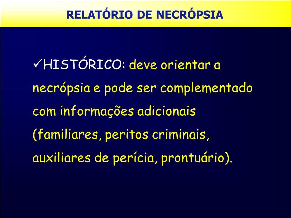 RELATÓRIO DE NECRÓPSIA