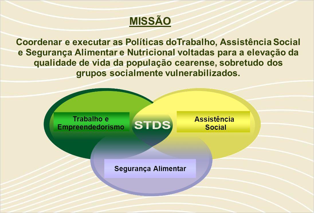 MISSÃO Coordenar e executar as Políticas doTrabalho, Assistência Social.