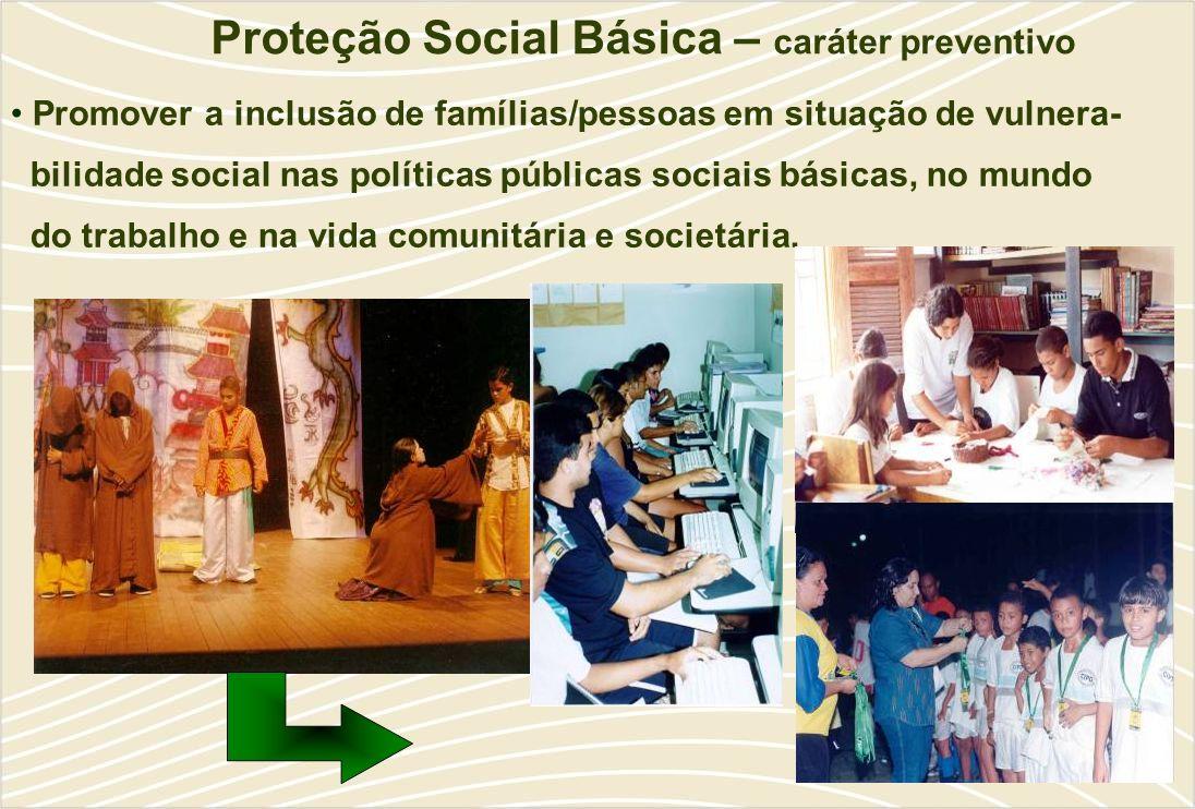 Proteção Social Básica – caráter preventivo