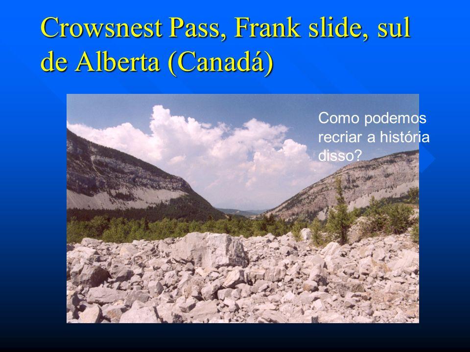 Crowsnest Pass, Frank slide, sul de Alberta (Canadá)