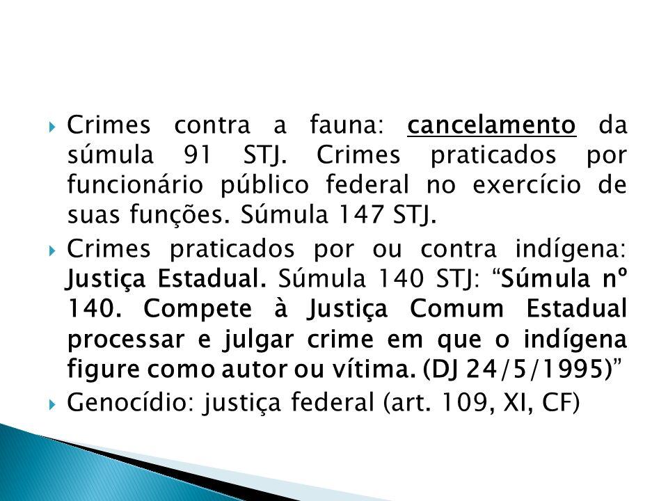 Crimes contra a fauna: cancelamento da súmula 91 STJ