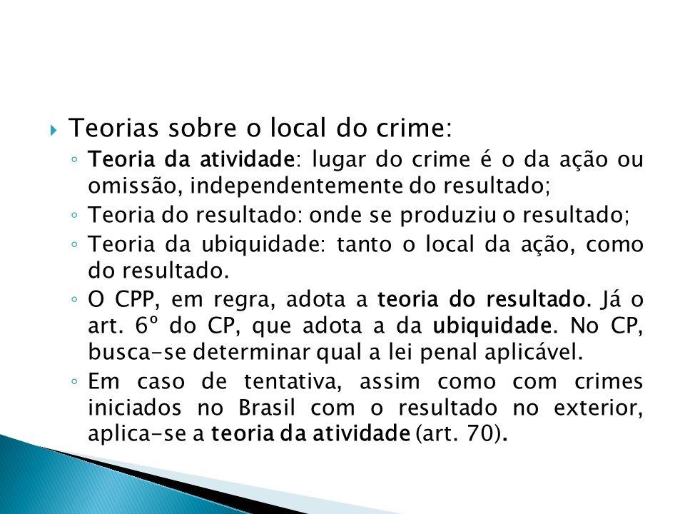 Teorias sobre o local do crime: