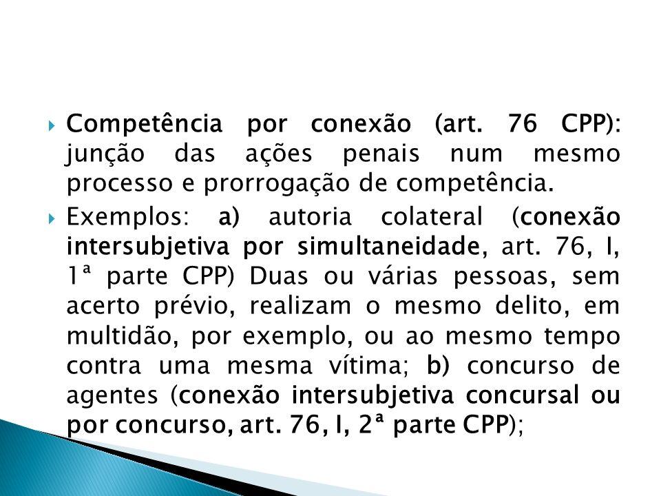 Competência por conexão (art