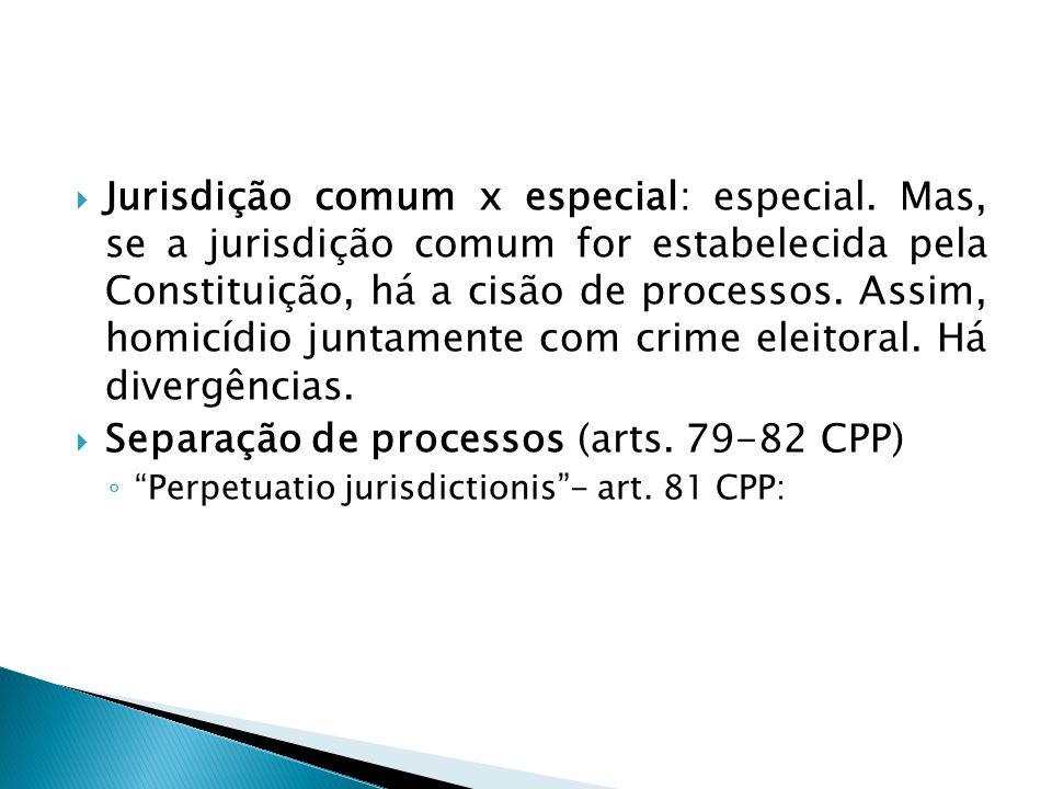 Separação de processos (arts. 79-82 CPP)