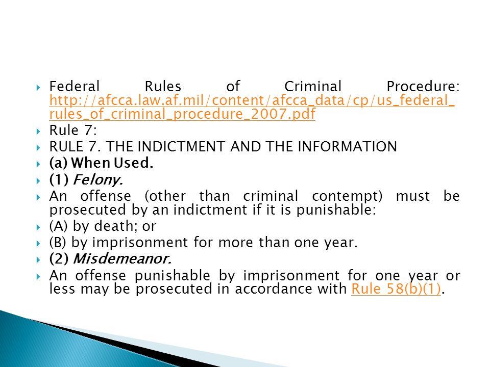 Federal Rules of Criminal Procedure: http://afcca. law. af